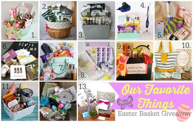 Our Favorite Things Easter Basket Giveaway Collage 1