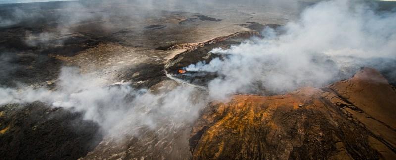 Pu'u 'O'o Lava Pond, Hawaii Volcanoes National Park, Hawaii, USA