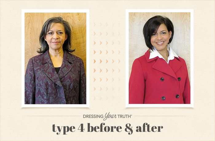 Deborah Dressing Your Truth Type 4 Before and After