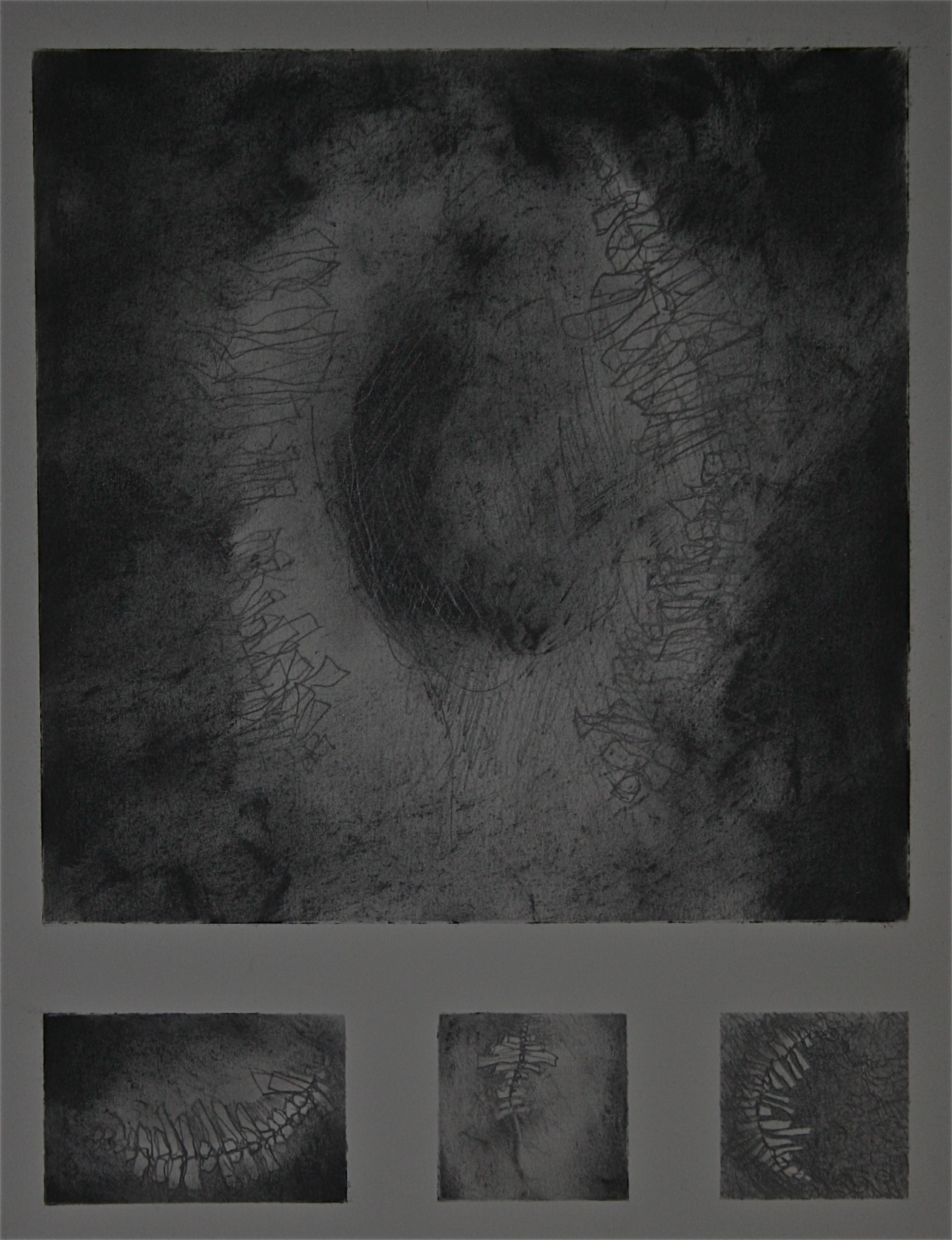 Jim Adams - Vague Memory - graphite on paper - 11 x 14: framed 375.00
