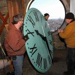 St. Agnes bell tower clock receives a timely fix