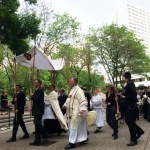 Eucharistic procession sends message of hope, participants say