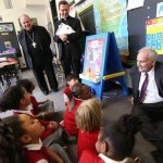 Gov. Dayton gets down with the kids on tour of Ascension School