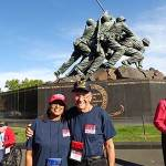 Veterans get hero's welcome after visit to war memorials in Washington