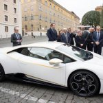 'Papal' Lamborghini gift to be auctioned off for charity