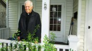 """Father Moritz A. Fuchs stands on his porch in Fulton. """"Life is a gift of God,"""" he says. - SUN PHOTO 