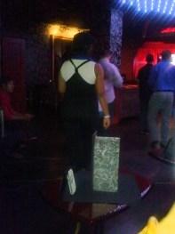 Nykki Salsa dancing at The Marini Bar