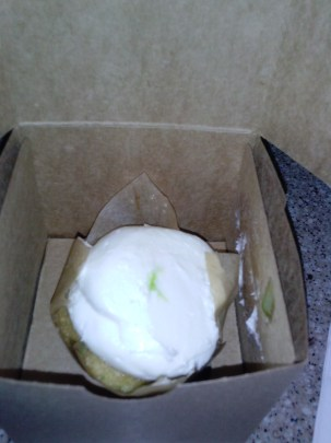 The Omnomnom cupcake which is a key lime cake