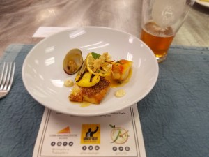 Third Course- Serrano Eye Patch Bouillabaisse- Monkfish, Clams, Snapper, Fresh Rock Shrimp, Pineapple, Saffron & Serrano Aioli- Paired with  Serrano Eye Patch Ale- Indian Pale Ale