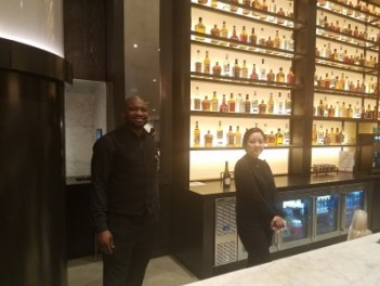 Some of the bar staff