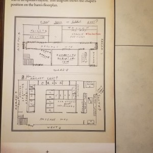 Original floor plans of the barn
