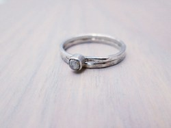 Small Of Raw Diamond Ring