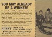 Strombecker slot car giveaway in Boy's Life magazine