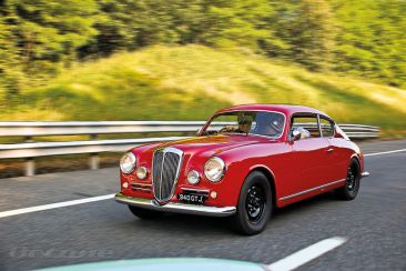 Lancia Aurelia GT with black steel wheels
