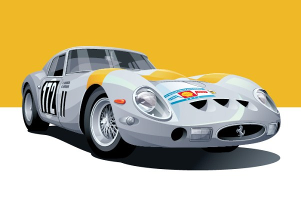 Ferrari 250 GTO illustration by Arthur Schening