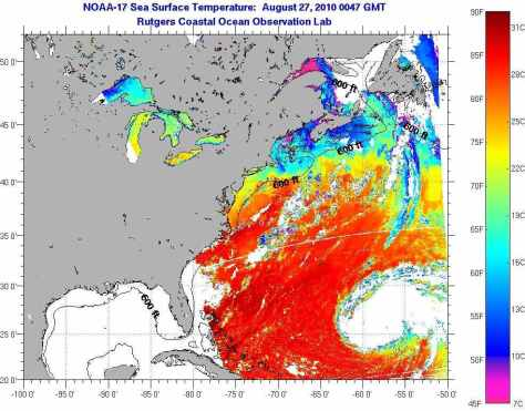 Current sea surface temperature satellite data show pre-Ice Age continued cooling