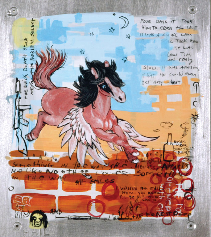 Black Metal Pegasus