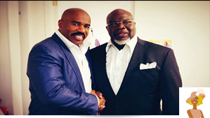 """Steve Harvey and T. D. Jakes"""