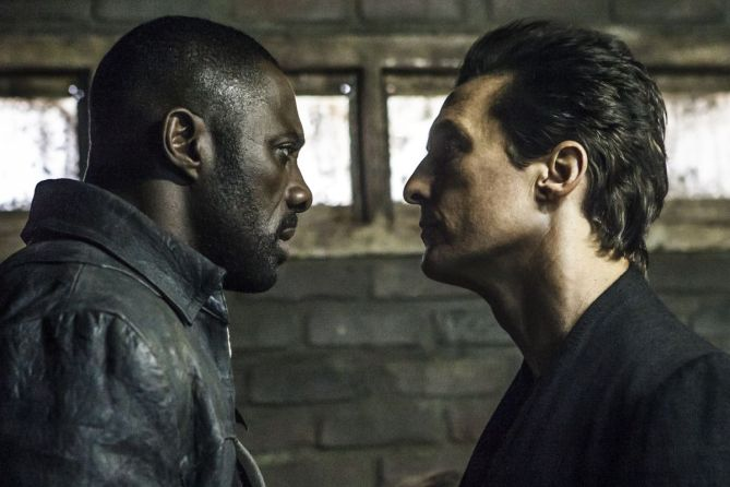 Roland (Idris Elba) and Walter (Matthew McConaughey) in Columbia Pictures' THE DARK TOWER.