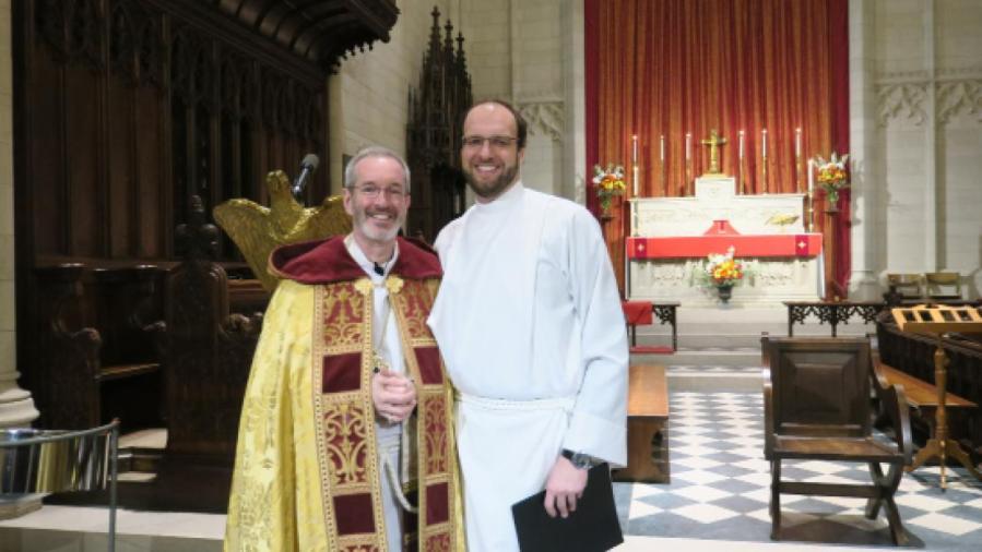 Reverend Whiteman ordained as priest in St. John's Chapel