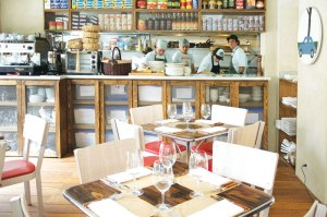Interior of La Despensa restaurant.