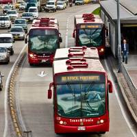 Bus strike in Bogotá
