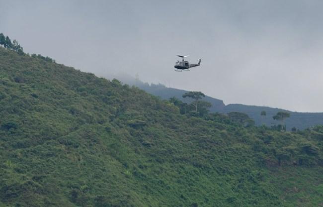 Police patrol northern Cauca department.