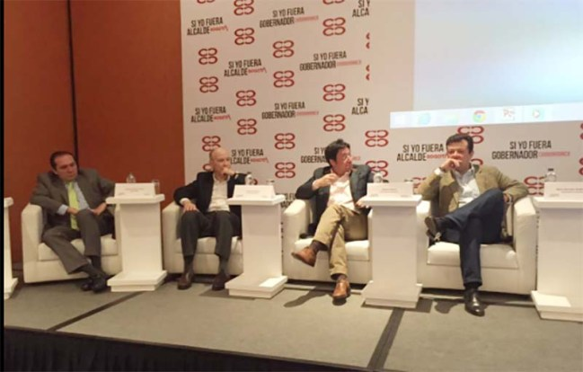 Photo of the CCB Forum #yoAlcalde in Bogotá.
