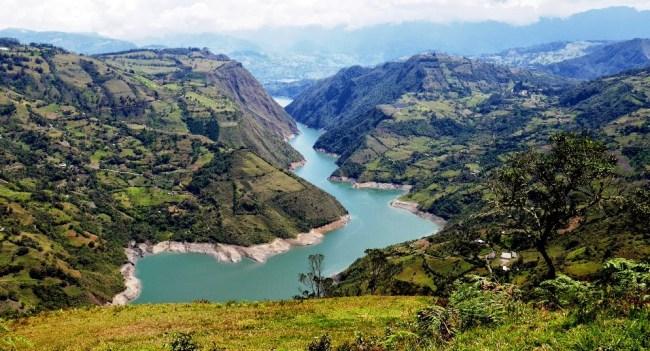 The Guavio reservoir in Cundinamarca.