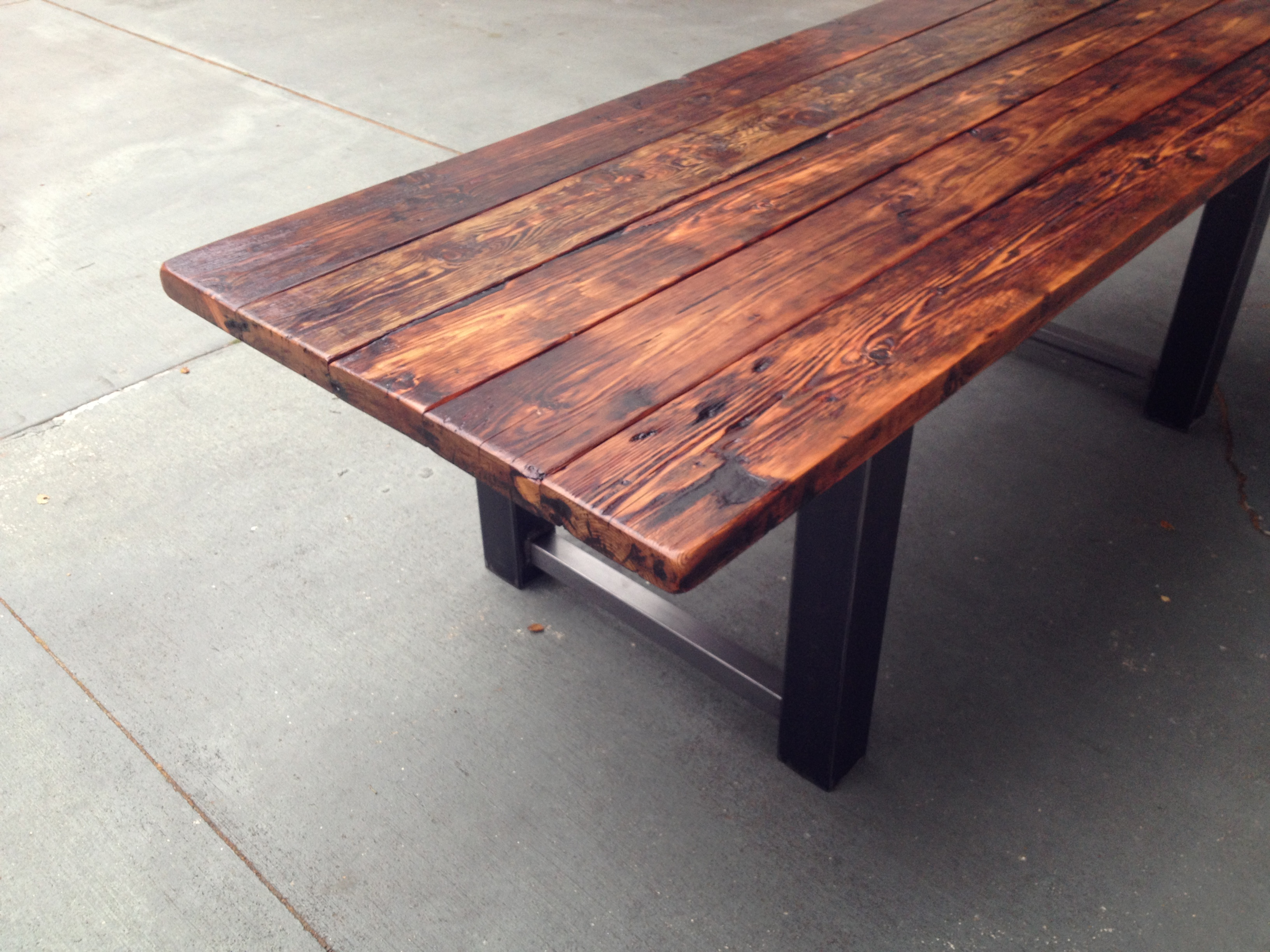 wood metal dining table metal kitchen table Dining Table