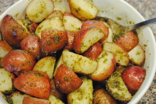 Pesto Roasted Potatoes