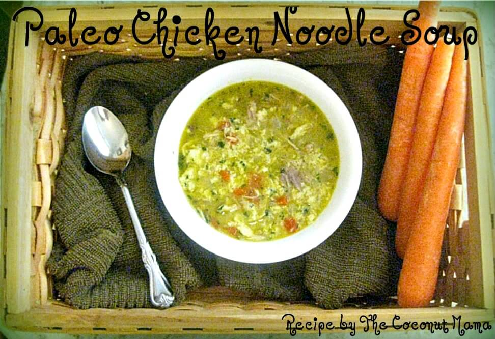 Paleo Chicken Noodle Soup from The Coconut Mama