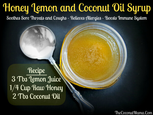 Honey and Lemon Cough Syrup with Coconut Oil from The Coconut Mama