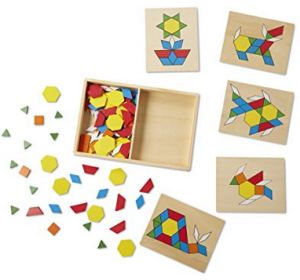 27 Melissa & Doug Pattern Blocks and Board