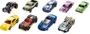 8 Hot Wheels Exclusive Decoration Gift Pack, 9-Piece