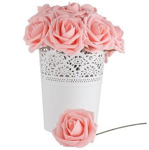 Dinopure Wedding Bouquet 50pcs Artificial Flowers