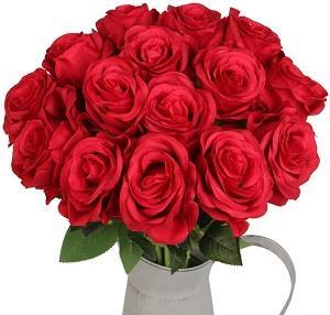 Luyue Artificial Silk Rose Flower
