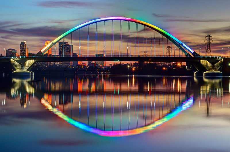 After months of community effort, Lowry Bridge will be lit for Pride