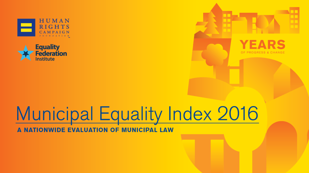 St. Paul, Minneapolis take top spot on 2016's LGBTQ Municipal Equality Index