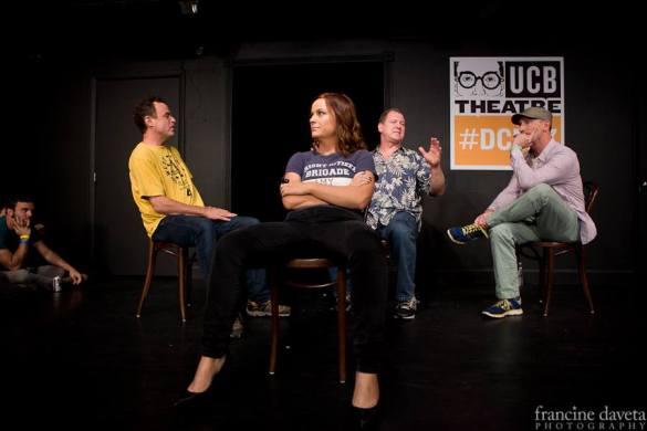 Matt Besser, Amy Poehler, Ian Roberts and Matt Walsh, photographed by Francine Daveta.