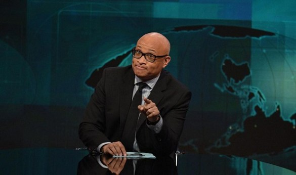 """NEW YORK, NY - JANUARY 05:  Host Larry Wilmore on """"The Nightly Show With Larry Wilmore"""" on January 5, 2016 in New York City.  (Photo by Bryan Bedder/Getty Images for Comedy Central)"""