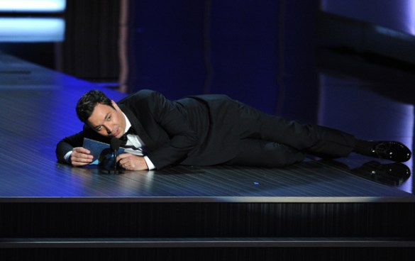 65th Annual Primetime Emmy Awards - Best Of LOS ANGELES, CA - SEPTEMBER 22:  TV host Jimmy Fallon speaks onstage during the 65th Annual Primetime Emmy Awards held at Nokia Theatre L.A. Live on September 22, 2013 in Los Angeles, California.  (Photo by Kevin Winter/Getty Images)