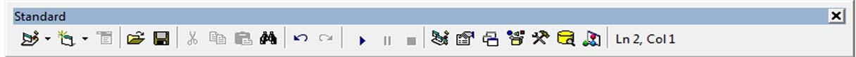 Standard Toolbar