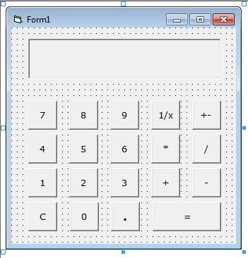 Form Designed for Calculator
