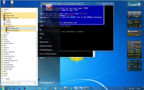 Editing DOSBox Configuration file, under the Start Menu in Windows 7