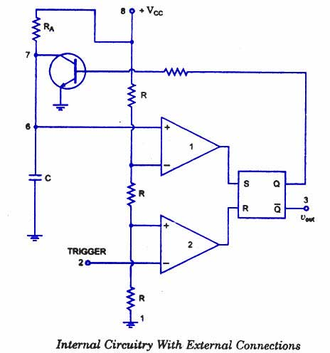 monostable multivibrator operation timer ic 555