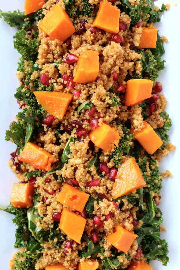Quinoa and Kale Salad with Roasted Butternut Squash 2