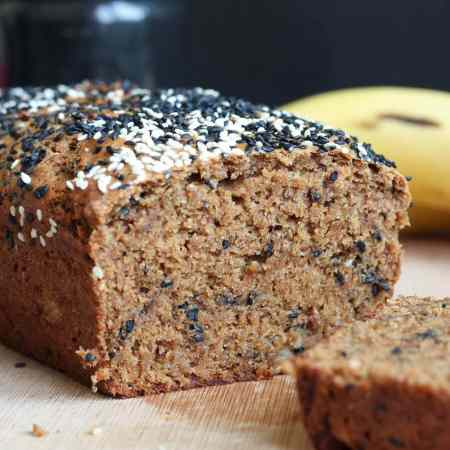 Black Sesame Tahini Vegan Banana Bread-9