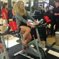 It's Totally Normal To Ride A Spin Bike In Bloomingdales