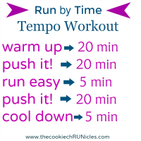Run By Time Tempo Workout